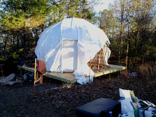Cheap Dome in Woods